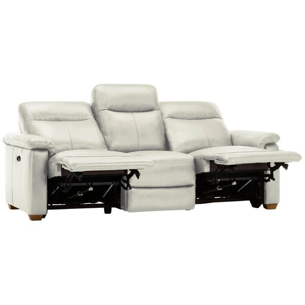 Surprising Off White Leather Sofas 3 Seater Electric Recliner Sofa Pabps2019 Chair Design Images Pabps2019Com