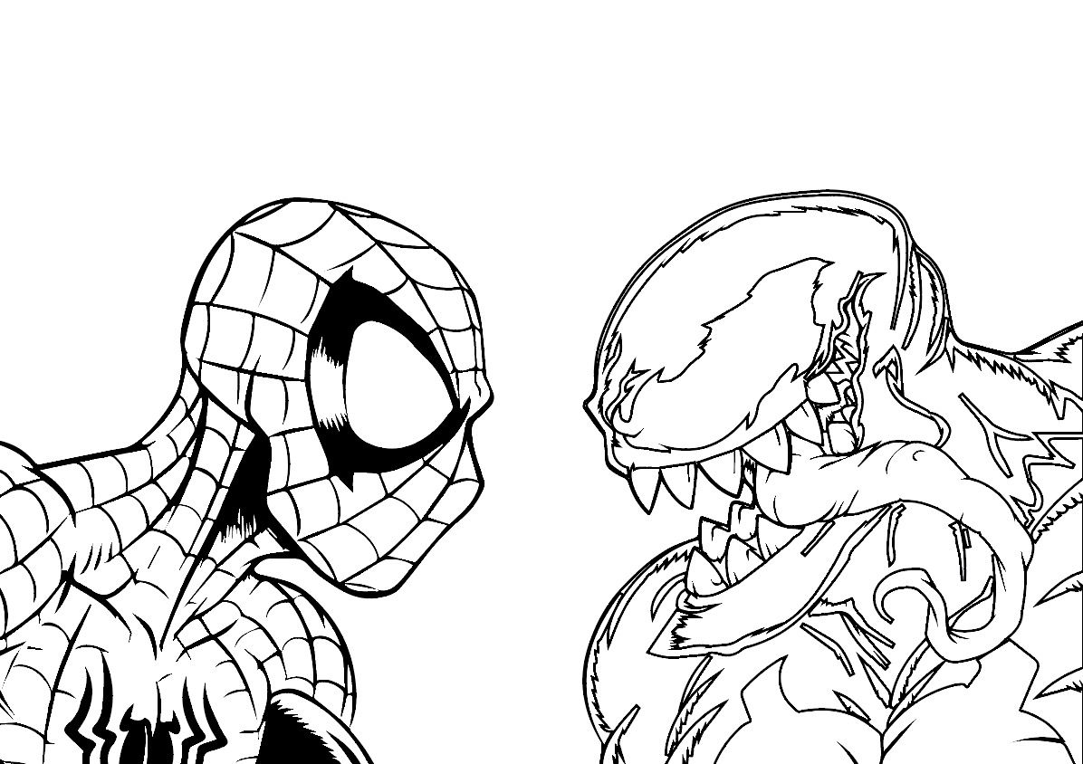 Marvel Spiderman Vs Venom Disegni Da Colorare Coloring Pages Disegni Disegni Da Colorare Marvel