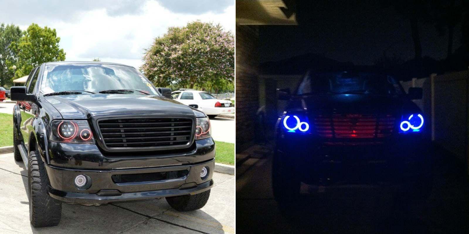 LED Halo Headlight Accent Lights Led halo headlights