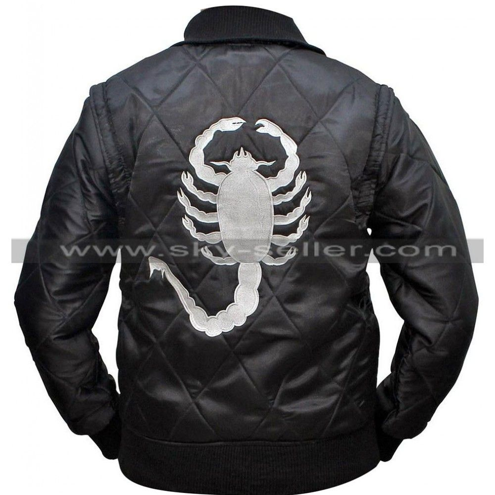 Drive Ryan Gosling Scorpion Satin Bomber Jacket Leather Jacket Men Jackets Men S Coats And Jackets [ 1000 x 1000 Pixel ]