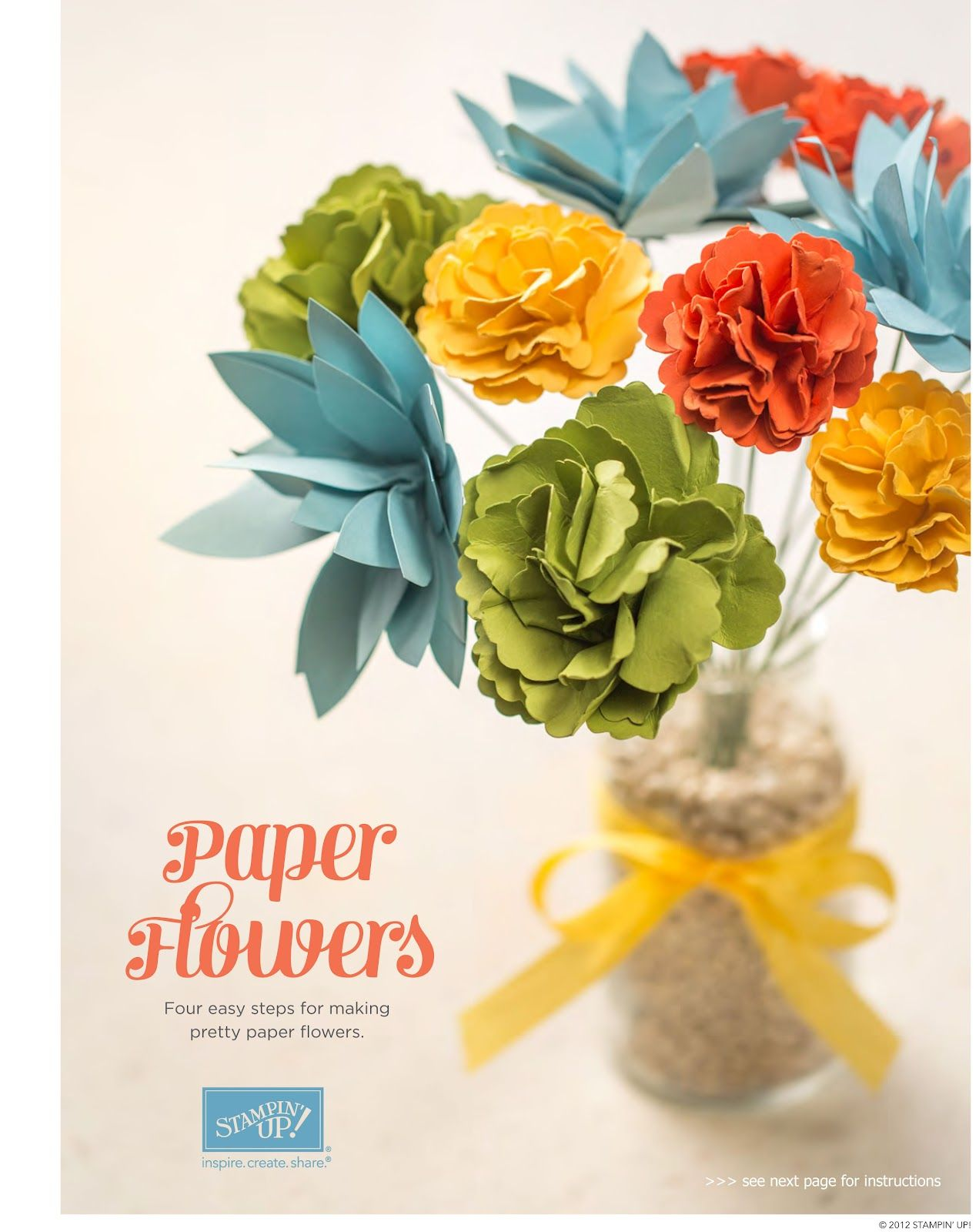 Stampin Up Paper Flowers Tutorial Stampin Up Pinterest Paper