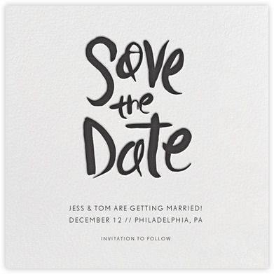 split square save the date paperless post card design in 2018