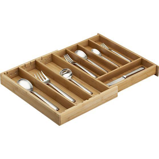 Expandable Bamboo Flatware Tray Crate And Barrel Bamboo Flatware Utensil Trays Cutlery Tray