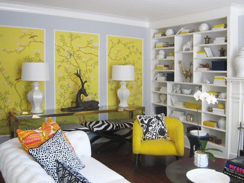 9 Unexpected Ways To Decorate With Wallpaper Eclectic Living Room Wallpaper Crafts Interior Design