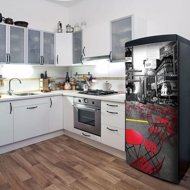 New York Time (Fridge)   Kitchen cabinet remodel, Kitchen ...