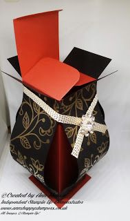 Ann's Happy Stampers: Beautiful & Unusual Tall Gift Box