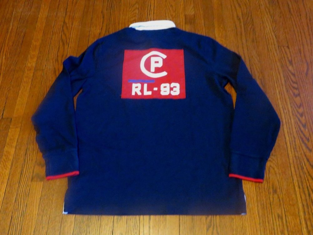 3144c143 Men's NWT Polo Ralph Lauren CP-93 Navy Blue Red White Rugby Shirt sz M  #fashion #clothing #shoes #accessories #mensclothing #shirts (ebay link)