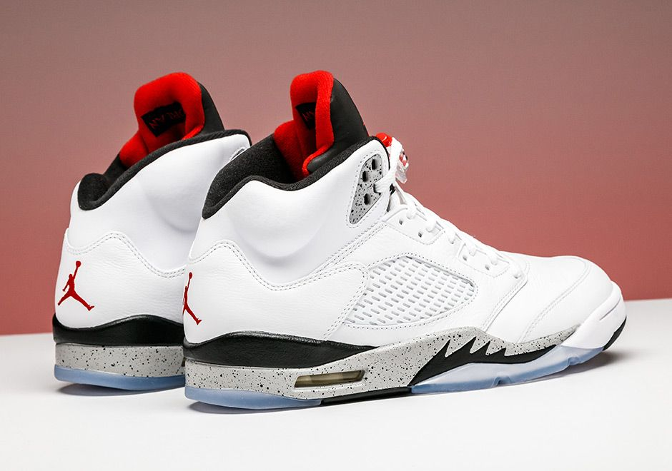 14f47698ace Air Jordan 5 White Cement Available Early at Stadium Goods | SneakerNews.com