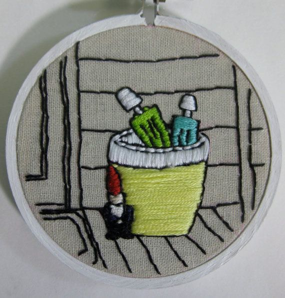 It's Raining Gnomes by ThisTinyExistence on etsy $25
