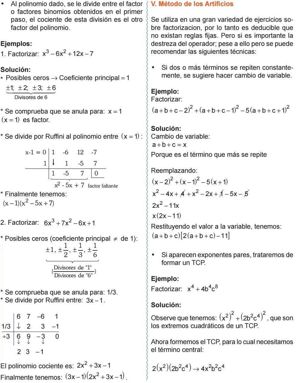 Método De Los Artificios Algebra Physics Math