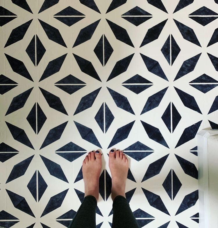 How I Painted my Outdated Linoleum Floors, DIY Home Projects, Bathroom Floor Remodel, Painted Floors