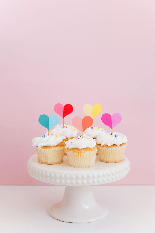 Free Printable Heart Cupcake Topper Cupcake Toppers Printable