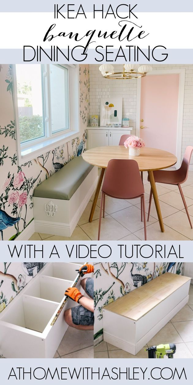 DIY Banquette Seating IKEA Hack