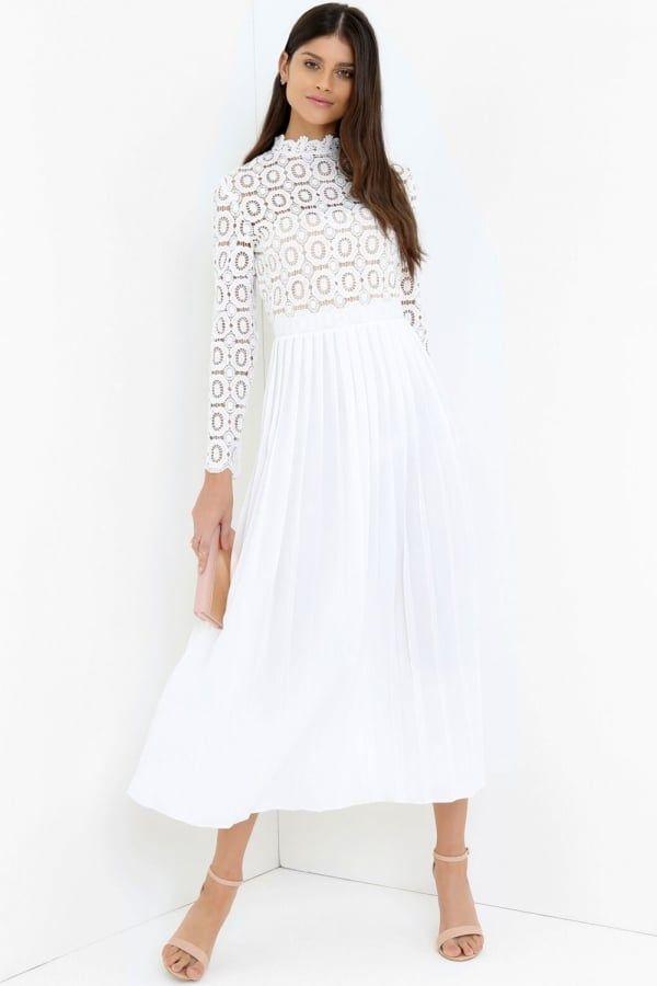 Little Mistress White Maxi Dress Little Mistress From Little Mistress Uk Long Sleeve White Maxi Dress Maxi Dress With Sleeves Lace White Dress