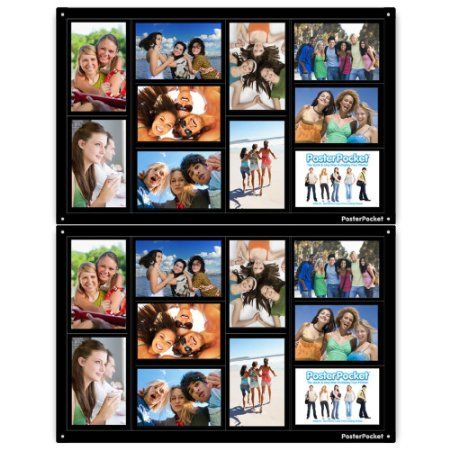 Amazon Com 2 Pack 10 Opening 4x6 Photo Collage Frame Black Picture Wall Art Home De Framed Photo Collage Picture Collage Collage Picture Frames