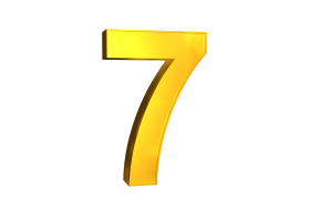 Seven 7 3d Numbers Gold Png Image With Transparent Background Png Free Png Images Numbers Png Gold Clipart