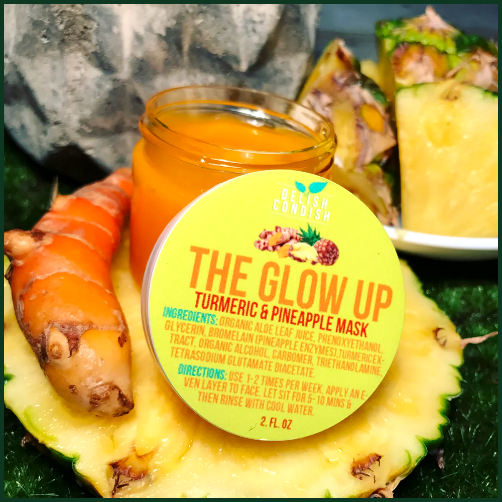 THE GLOW UP TURMERIC  PINEAPPLE MASK THE GLOW UP TURMERIC  PINEAPPLE MASK