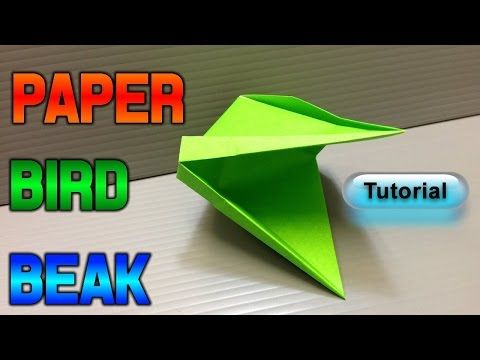 How To Make A Paper Bird Beak!! - YouTube (With Images) Paper