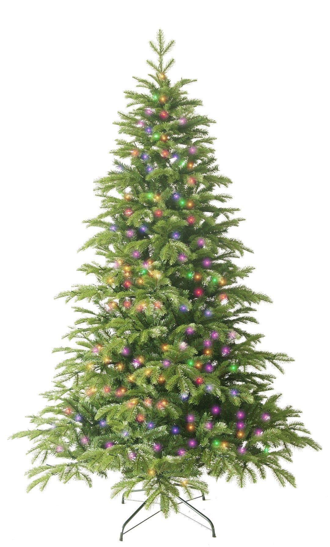 Kerstboom Met Gekleurde Lampjes Werkt Op Bluetooth Kerst Boom