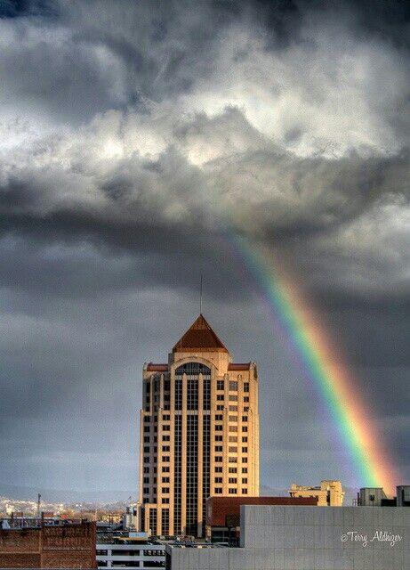 Rainbow After The Storm Over The Wells Fargo Building Roanoke Virginia Roanoke Va Roanoke