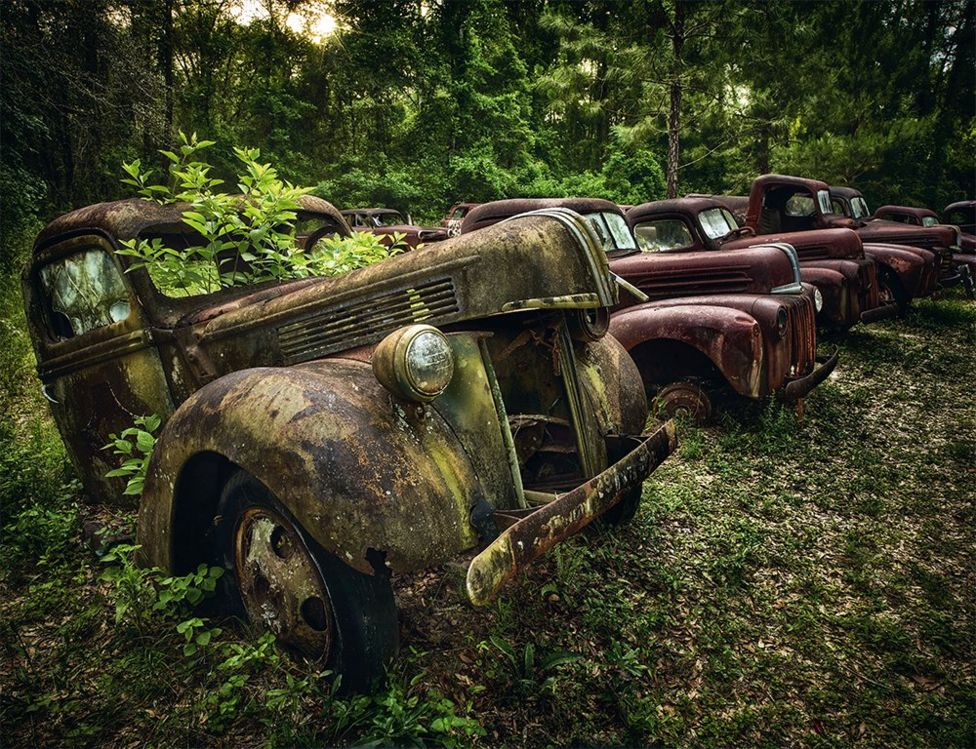 The faded beauty of abandoned cars across Europe and the US