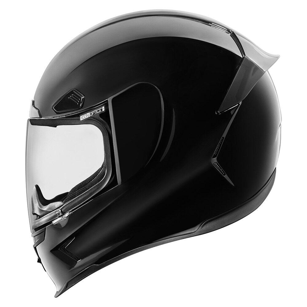Airframe Pro Gloss Black Helmets Icon Motosports