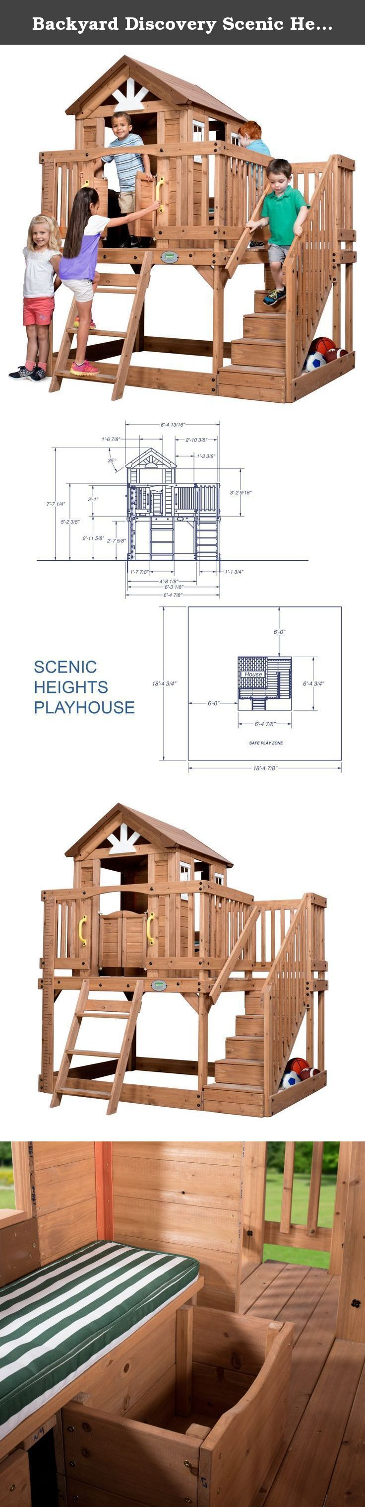 Backyard Discovery Scenic Heights All Cedar Playhouse. For ...