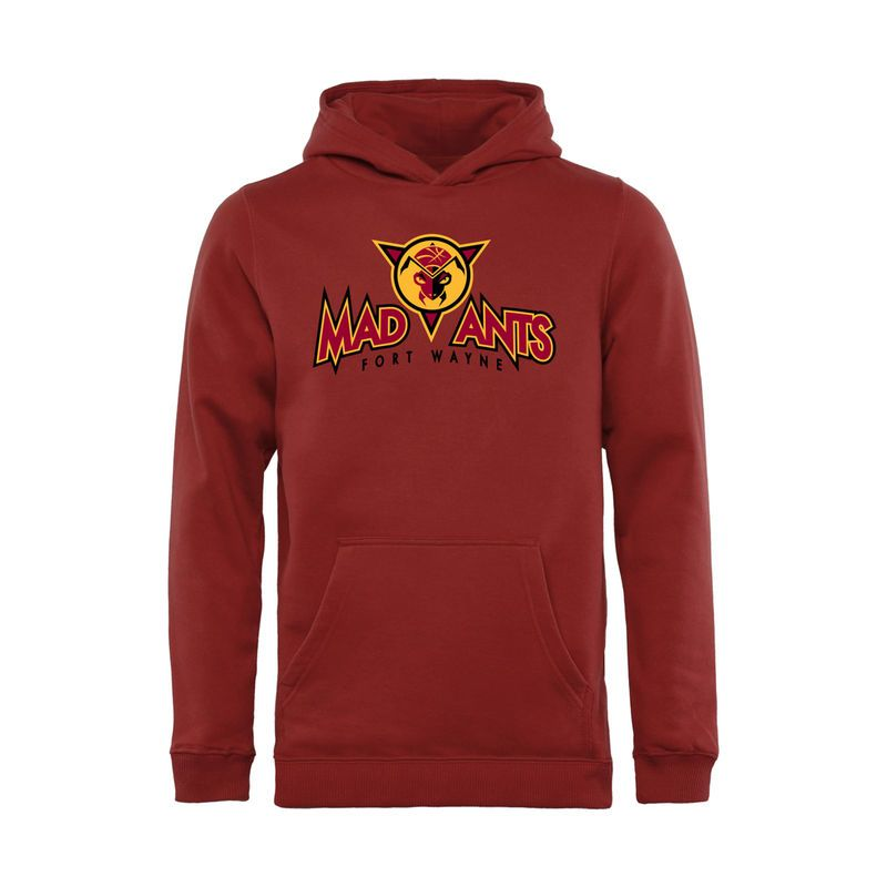 Fort Wayne Mad Ants Youth Primary Logo Pullover Hoodie - Crimson