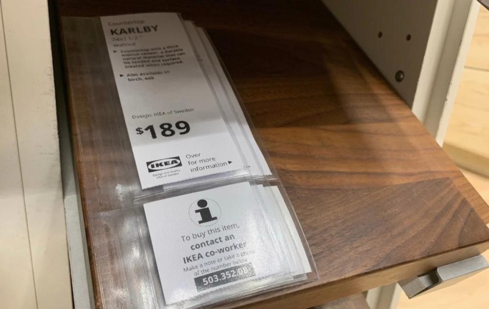 Karlby Countertop Walnut Veneer 74x1 1 2 Diy Butcher Block