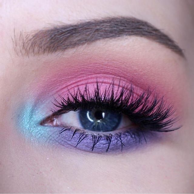 Image result for Red-Pink Rainbow Make Up