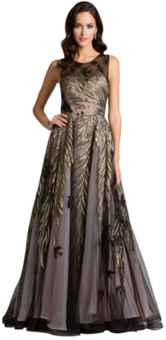 56979f982bc DRESSES BY LARA - Gold Magical Foliage Gown - Designer Dress hire