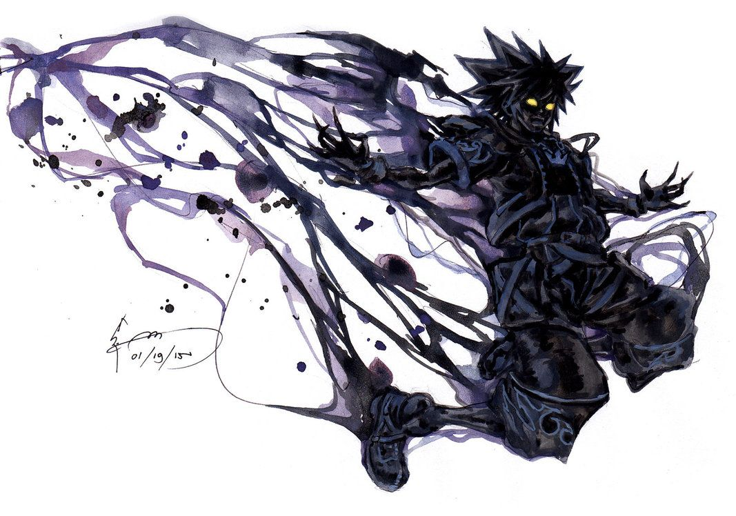 Kingdom Hearts 2 Anti Sora Form By Nick Ian On Deviantart