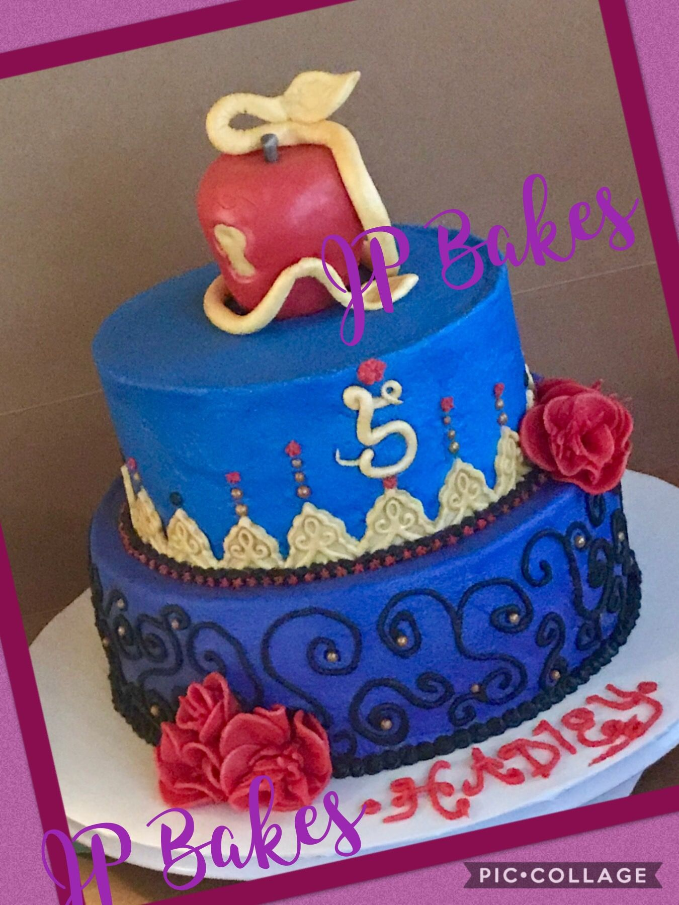 Descendants Birthday Cake Buttercream With Fondant Accents Jp
