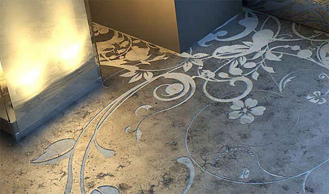 Momento Decoración » Pisos de cemento alisado con detalles chic - paredes de cemento