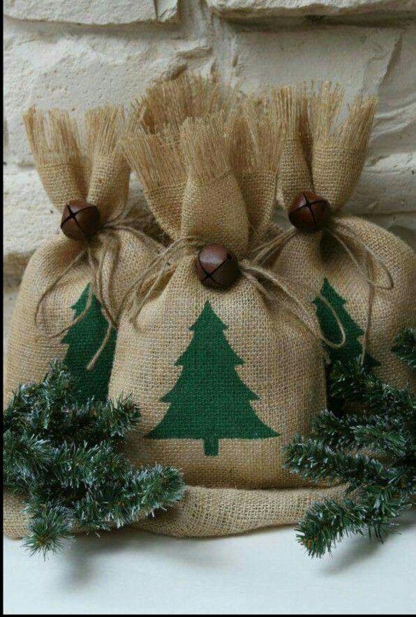 Burlap Christmas bag