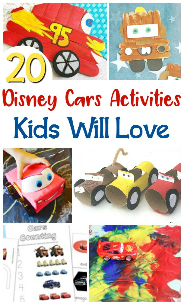 Disney Cars Activities For Kids Car Activities Activities For Kids Disney Activities