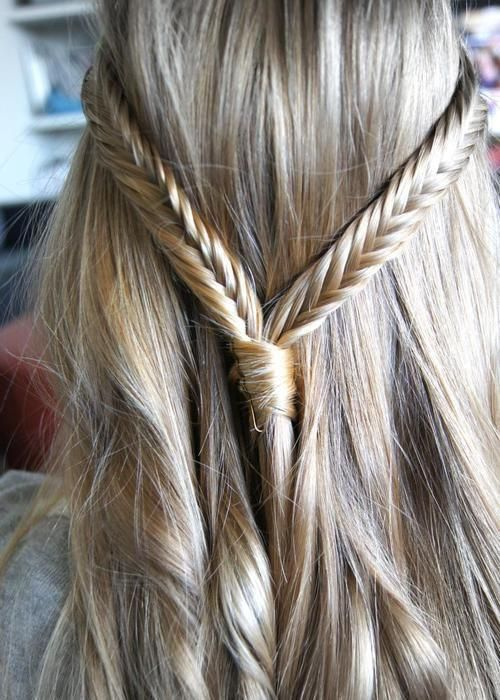 New Double fishtail braid half up do For Your Plan - Simple Elegant herringbone braid Minimalist