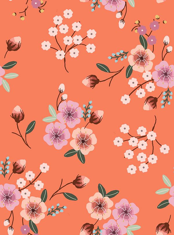 floral patterns prints pattern flower background oriental flowers backgrounds behance pretty motif coral illustrations fabric children visit trendcouncil