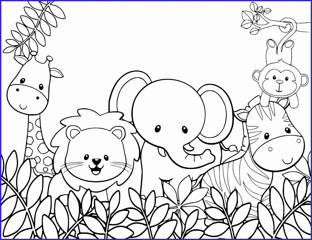 Cartoon Coloring To Print Luxury Coloring Pages Frecklebox Personalized Coloring Pages For Jungle Coloring Pages Zoo Coloring Pages Cute Coloring Pages