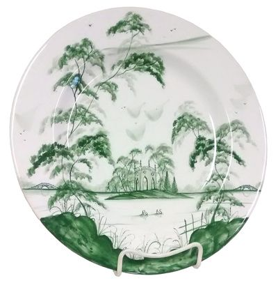 Isis Green English Garden - Gothic Pavilion - Dinner Plate   Plate ...