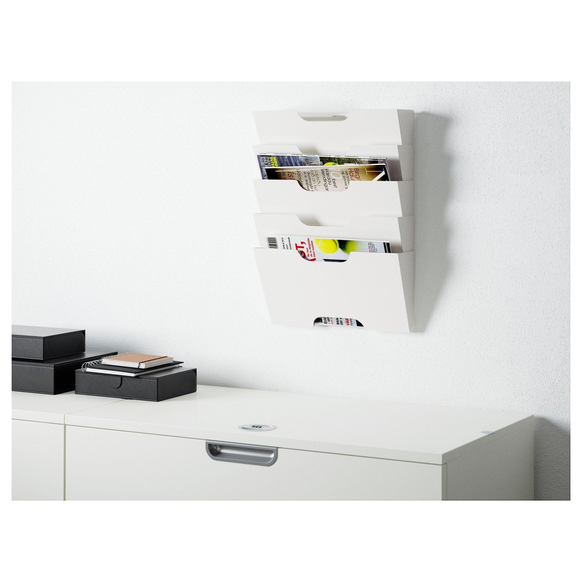 Kvissle Range Journaux Mural Ikea Maison Ikea Rangement Porte Document Mural