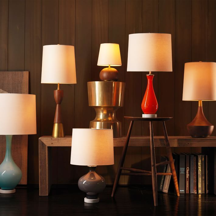 Do you prefer glass or wood metal or stone west elm has task and table lamps in a style for you from mid century modern to glamorous art deco