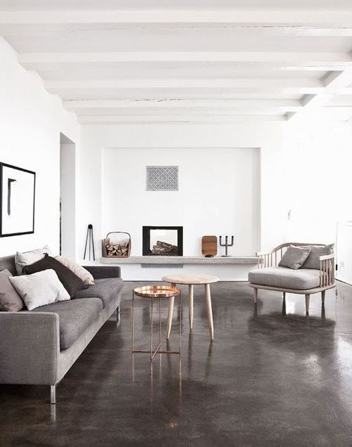 3 Dark Floors Types And 26 Ideas To Pull Them Off Home House Interior Concrete Stained Floors