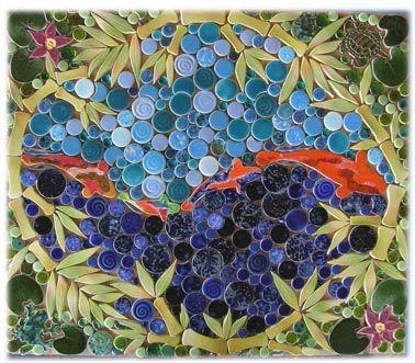 Ying Yang Lily Pond Kitchen Tile Backsplash Floors