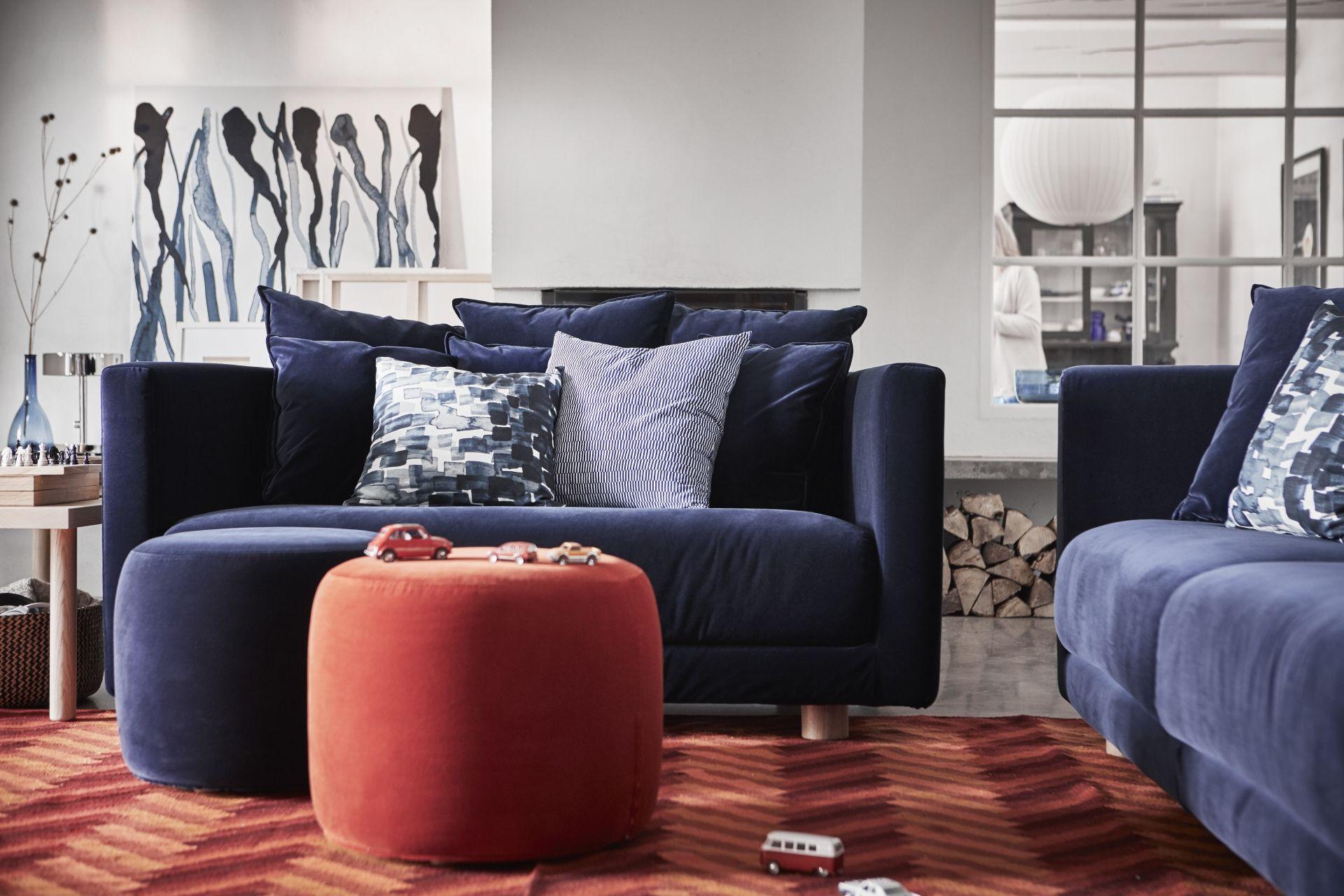 Divano Velluto Blu Ikea stockholm 2017 pouf - sandbacka grigio scuro | divano ikea