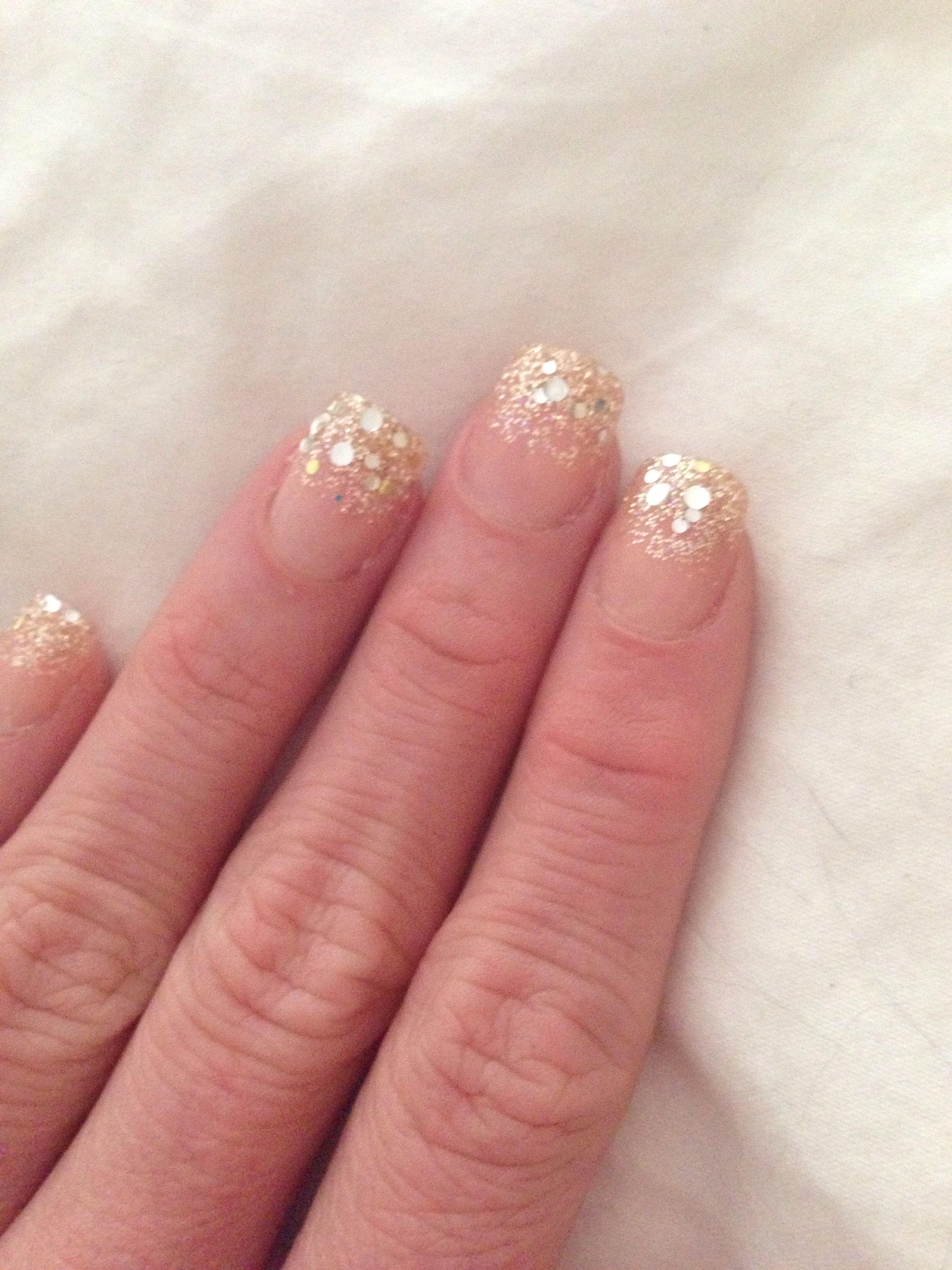 Gold Glitter Nails They Are Press On From Cvs You Re Welcome
