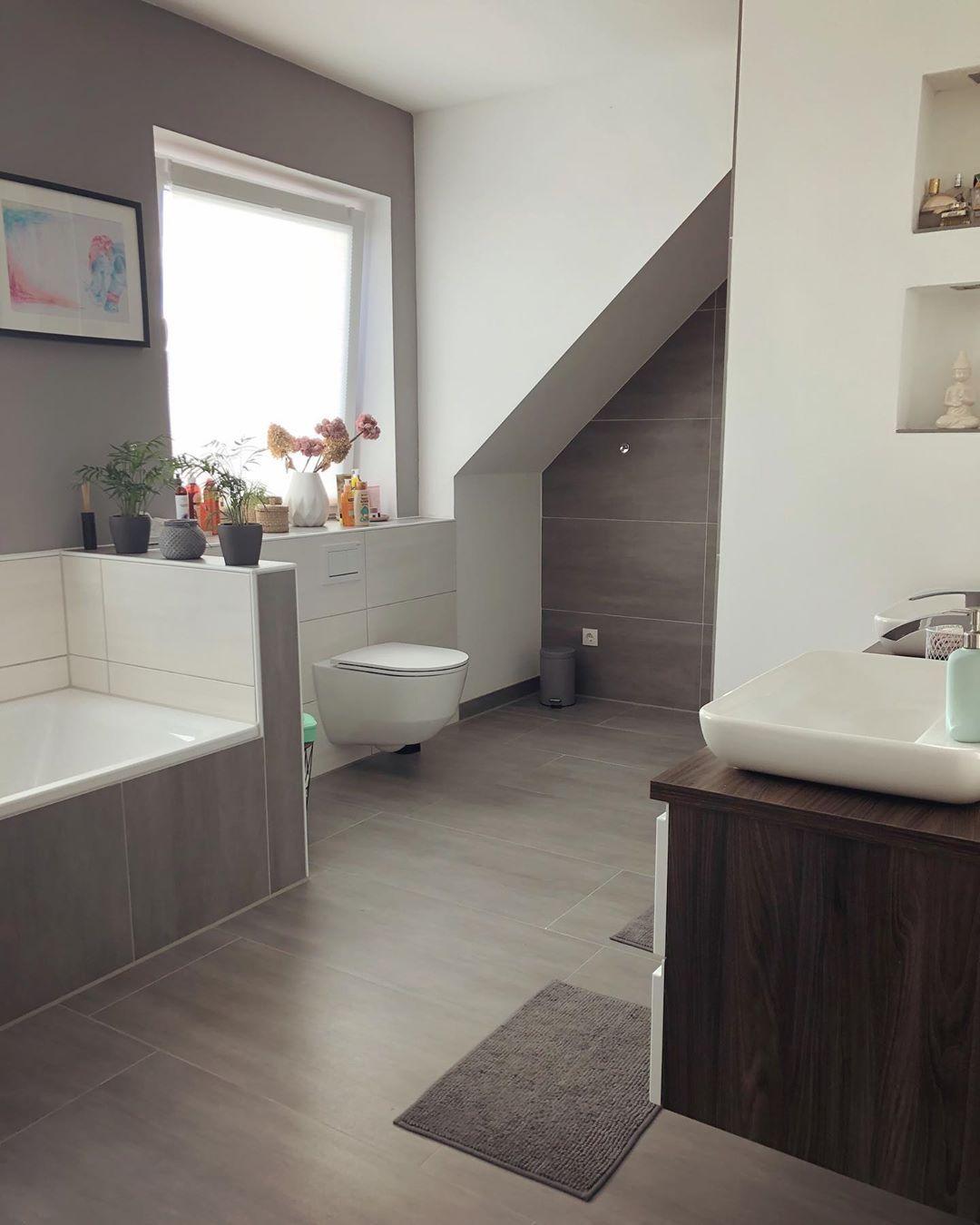 Badezimmer Homedesign Bad Bathroominspiration Bathroom Innenraumdesign Interior Schonerwohnen Wohnideen Badinspira Alcove Bathtub Bathroom Bathtub