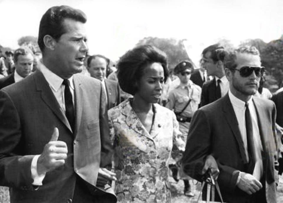 James Garner Diahann Carroll And Paul Newman In Washington D C In