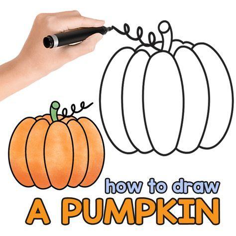 How to Draw a Pumpkin | Pumpkin drawing, Easy halloween ...
