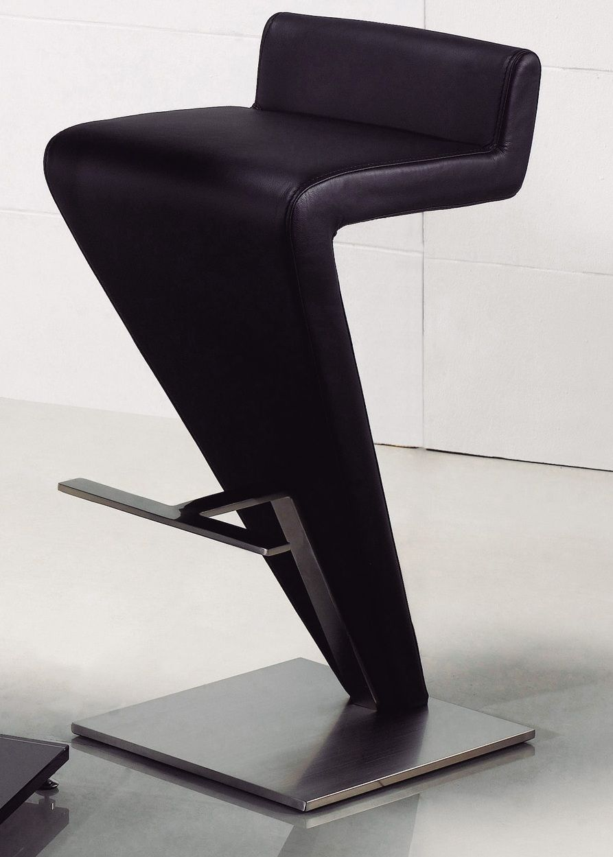 Contemporary Z Shaped Bar Stool Design Inspiration With Black